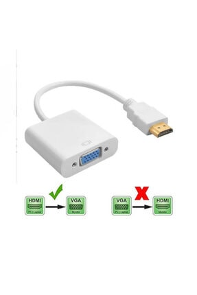 WOZLO Hdmi To Vga Çevirici Dönüştürücü Projeksiyon Notebok Pc Uyumlu Kablo 1