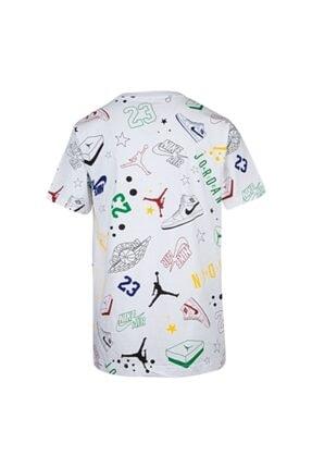 Nike Erkek Çocuk Beyaz Jordan Allstar Scrıbble  Tişört 95a075-001 1