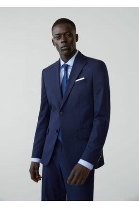 Mango Erkek Prusya Mavisi Regular Kesimli Mikro Dokuma Takım Blazer Ceket 67000515 1