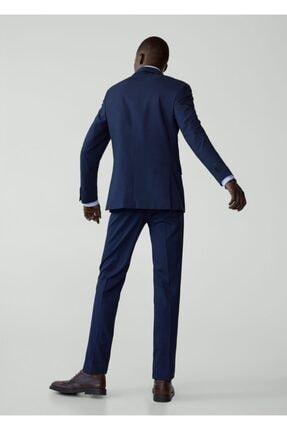 Mango Erkek Prusya Mavisi Regular Kesimli Mikro Dokuma Takım Blazer Ceket 67000515 2