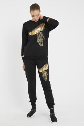 YBT Butik Kadın Kuş Desenli Alt Üst Takım 1