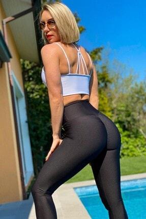 Alışveriş Sokağı Scrunch Butt Leggings Arkası Büzgülü Yüksek Bel Spor Tayt(17 Renk) 3