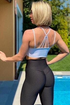 Alışveriş Sokağı Scrunch Butt Leggings Arkası Büzgülü Yüksek Bel Spor Tayt(17 Renk) 4