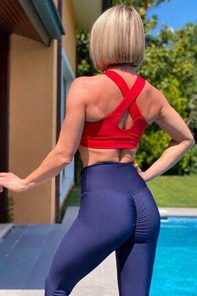 Alışveriş Sokağı Scrunch Butt Leggings Arkası Büzgülü Yüksek Bel Spor Tayt(18 Renk) 2
