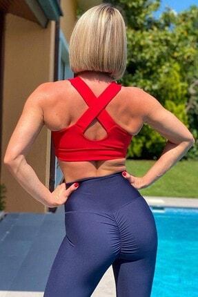 Alışveriş Sokağı Scrunch Butt Leggings Arkası Büzgülü Yüksek Bel Spor Tayt(18 Renk) 3