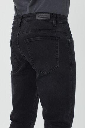 BOSHETTI Erkek Koyu Füme Slim Fit Essentials Jean 2
