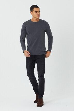 BOSHETTI Erkek Koyu Füme Slim Fit Essentials Jean 4