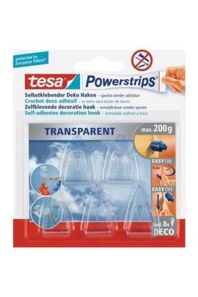 Tesa 58900 Ps Transparent Deco Hooks Iz Bırakmadan Sökülebilir Askı 0