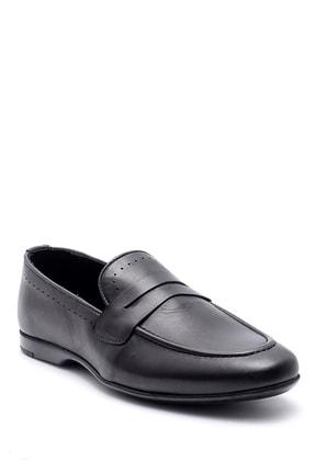 Derimod Erkek Siyah Deri Klasik Loafer 1