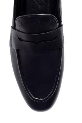 Derimod Erkek Siyah Deri Klasik Loafer 4