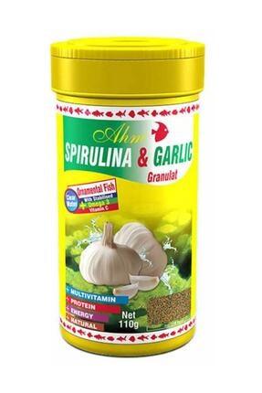 Ahm Spirulina Garlic Sarımsaklı 100ml Balık Yemi 0