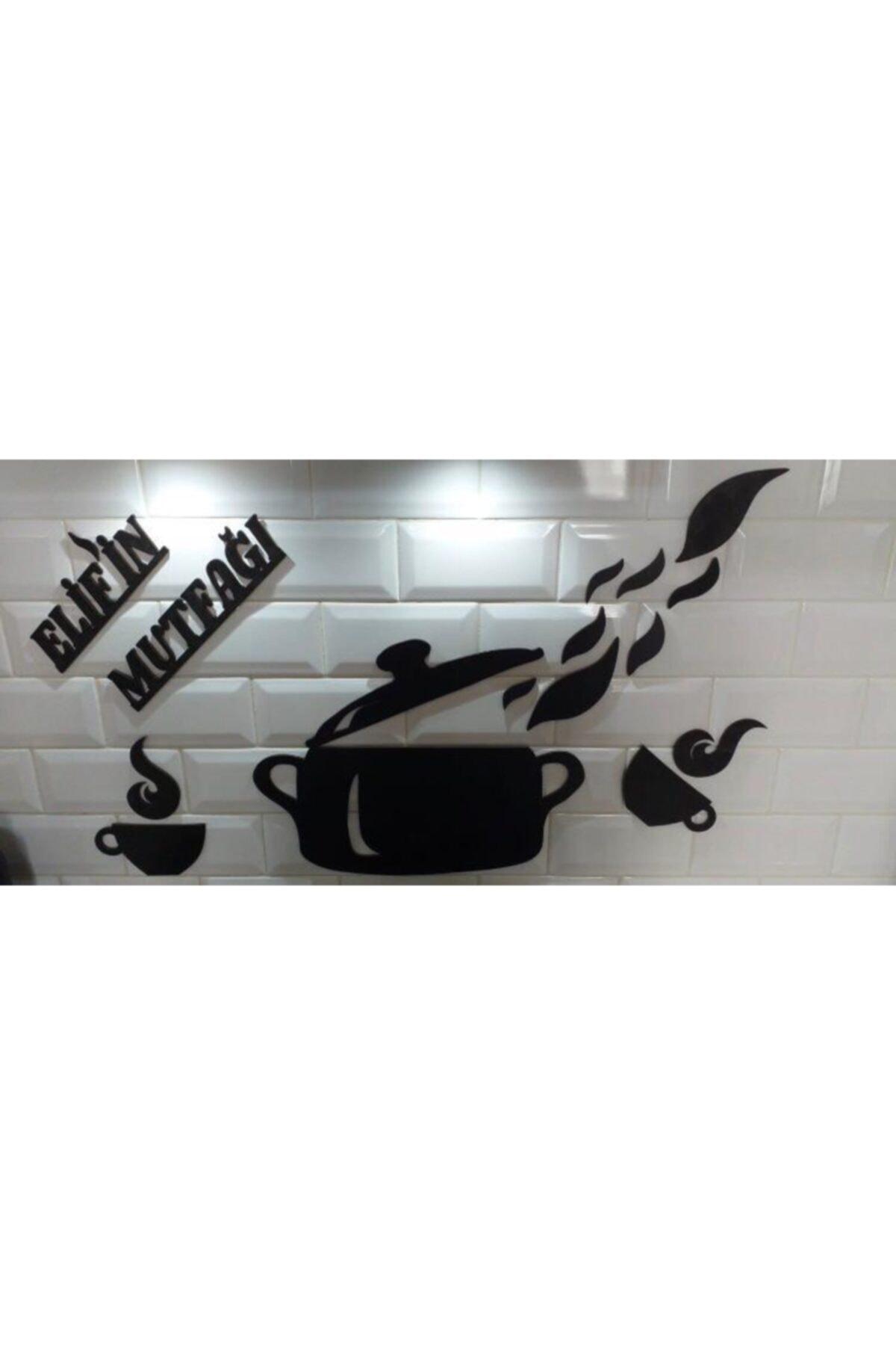 Elif'in Mutfağı Yazılı Ahşap Mutfak Süsü
