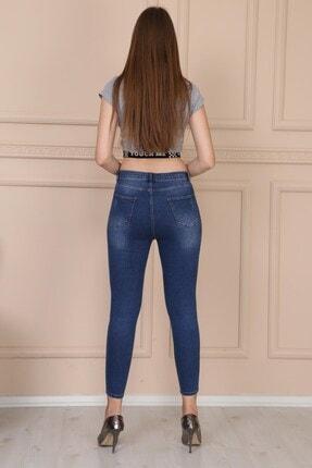 Modaca Kadın Mavi Lazer Detay Jean Mavi 4