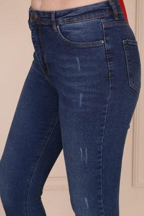 Modaca Kadın Koyu Mavi Ön Tırnak Detay Jean 4