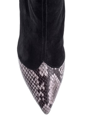 Derimod Kadın Siyah  Topuklu Deri Bot 3