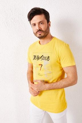 Zafoni Erkek Sarı 7 Baskılı T-shirt 1