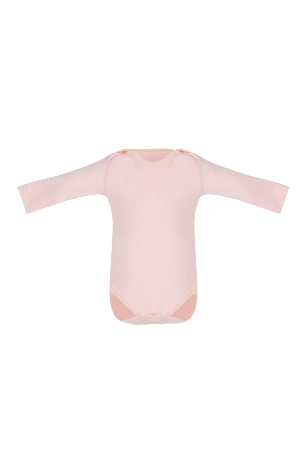 Pattaya Kids Kız Bebek Uzun Kollu Badi 2'li Takım 0-36 Ay BBTOO-BDY113 1