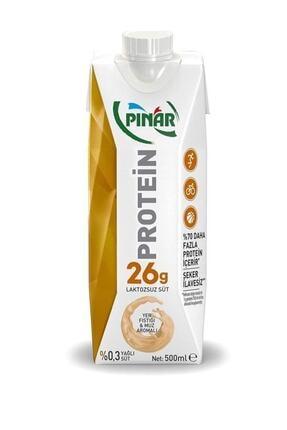 Pınar Proteinli Yerfıstık Muz Laktozsuz Süt 500 Ml 0
