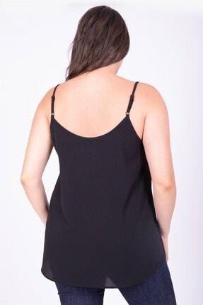 Myline Kadın Siyah Dantelli İp Askılı Bluz 34805 2