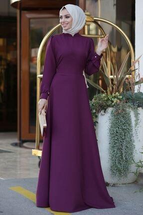 Lavienza Kruvaze Tesettür Elbise 0