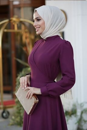 Lavienza Kruvaze Tesettür Elbise 1