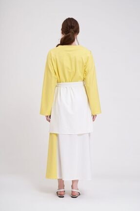 Mizalle Parçalı Kuş Gözlü Iki Iplik Kimono (sarı) 3