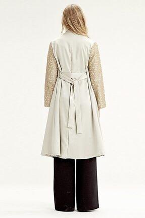 Mizalle Kolu Işlemeli Kimono (bej) 2