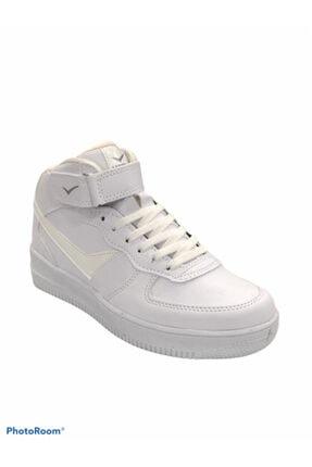 Lambırlent Unisex Beyaz Yarım Boğazlı Suya Dayanıklı Termo Kaymaz Taban Ayakkabısı 3