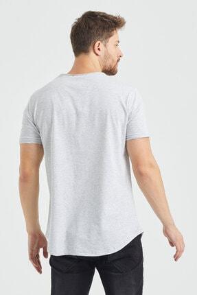Tarz Cool Erkek Gri  Salaş T-shirt 4
