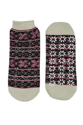 NZR GROUP Kadın Poffy Kaydırmaz Tabanlı Termal Çorap 0