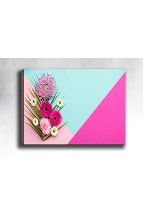 Pembe Çiçekler Kanvas Tablo 60 X 40cm Sb-38120 B-38120