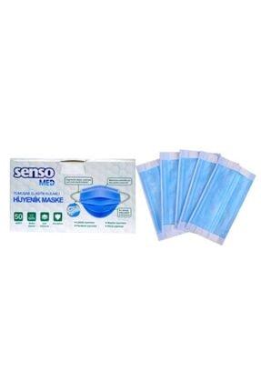 Senso Med 3 Katlı Telli Yumuşak Yeni Nesil Elastik Kulaklı 50 Adet Medikal Maske 4