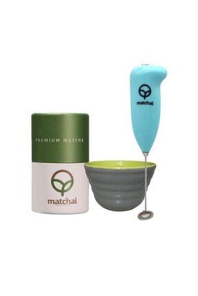 Matcha I 14 Premium + Pilli Köpürtücü + Porselen Kase 0