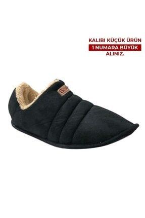 CEX Siyah Erkek Ev Ayakkabısı Panduf 0