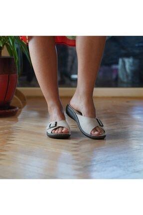 BYGURU Kadın Bej Iç Tabanlığı Değişebilir Tam Anatomik Günlük Terlik 1