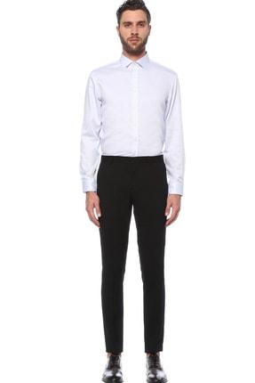 Network Erkek Beyaz Mavi Beyaz Mavi Italyan Yaka Gömlek 1075290 1