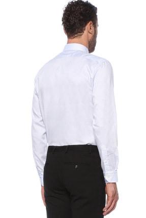 Network Erkek Beyaz Mavi Beyaz Mavi Italyan Yaka Gömlek 1075290 2