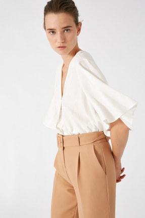 Koton Kadın Altın Çizgili Bluz 1KAK68732CW 1