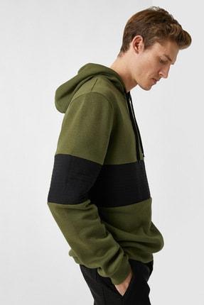 Koton Kapüsonlu Renk Bloklu Uzun Kollu Sweatshirt 1