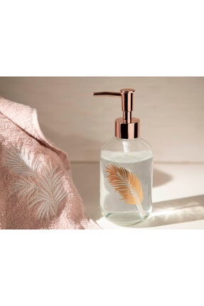 English Home Rose Gold Urban Pure Cam Banyo Sıvı Sabunluk 7,2x18,5 cm 0
