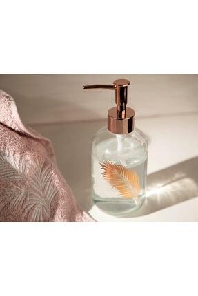 English Home Rose Gold Urban Pure Cam Banyo Sıvı Sabunluk 7,2x18,5 cm 1