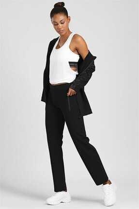 Tommy Life Klasik Cep Fermuarlı Siyah Bayan Eşofman Alt 94195 1