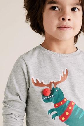 Marks & Spencer Erkek Çocuk Pamuklu T-Rex Desenli T-Shirt 1