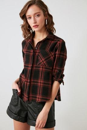 TRENDYOLMİLLA Siyah Cepli Gömlek TWOAW21GO1034 0