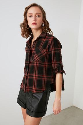 TRENDYOLMİLLA Siyah Cepli Gömlek TWOAW21GO1034 1