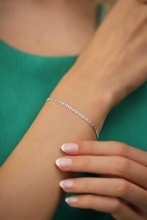 İzla Design Kadın Ezme Barlı Model Gümüş İtalyan Bileklik 2
