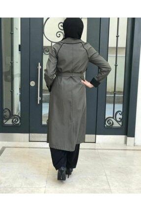 Loreen Kadın Haki Uzun Trençkot Dwklrn2503 2