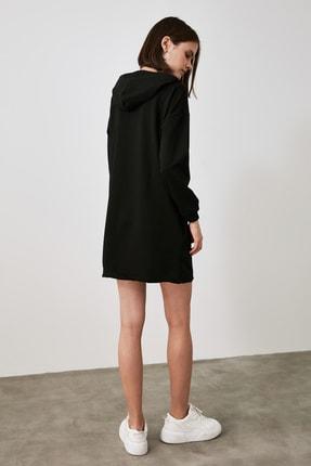 TRENDYOLMİLLA Siyah Baskılı Sweat Örme Elbise TWOAW21EL1283 4