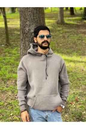 Erkek Gri Polar Sweatshirt resmi
