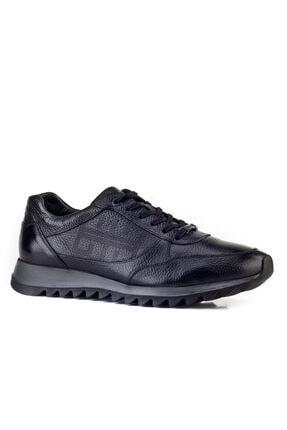 Cabani Erkek Ayakkabı Siyah Naturel Floter Deri 0